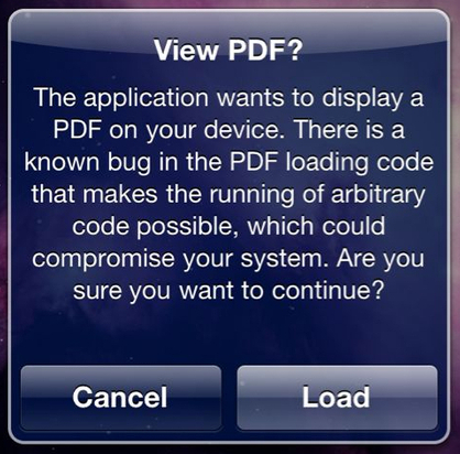 Stop PDFs to Load Automatically in iOS