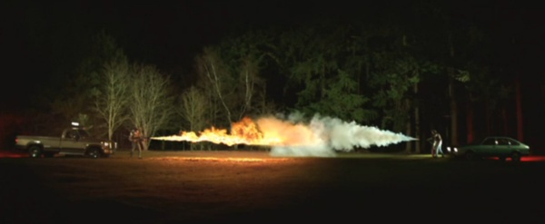 Flamethrower VS Fire Extinguisher at 1000 Frames per Second