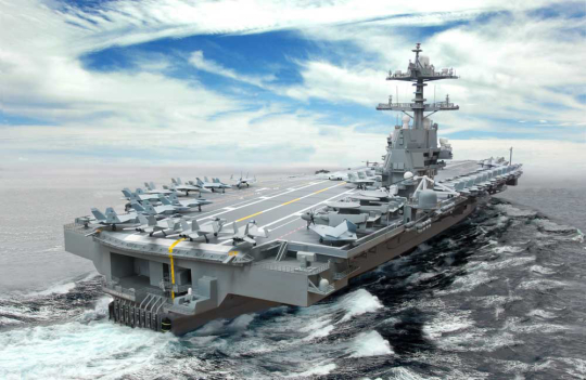 CVN 78 class aircraft carrie Top Ten Most Expensive Constructions