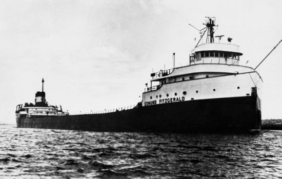 Great Lakes Ore Carrier Edmund Fitzgerald 550x349 Top Ten Ship Wrecks