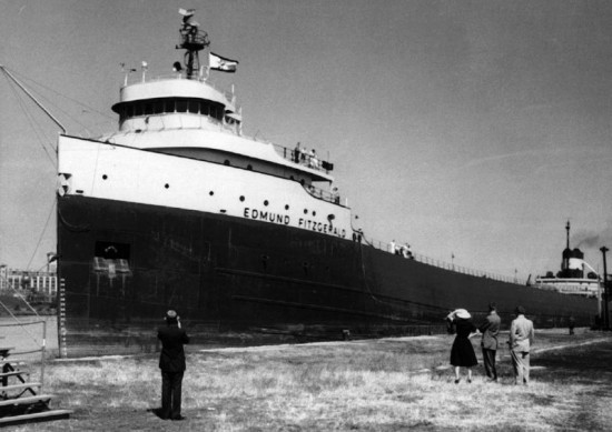 Great Lakes Ore Carrier Edmund Fitzgerald1 550x389 Top Ten Ship Wrecks
