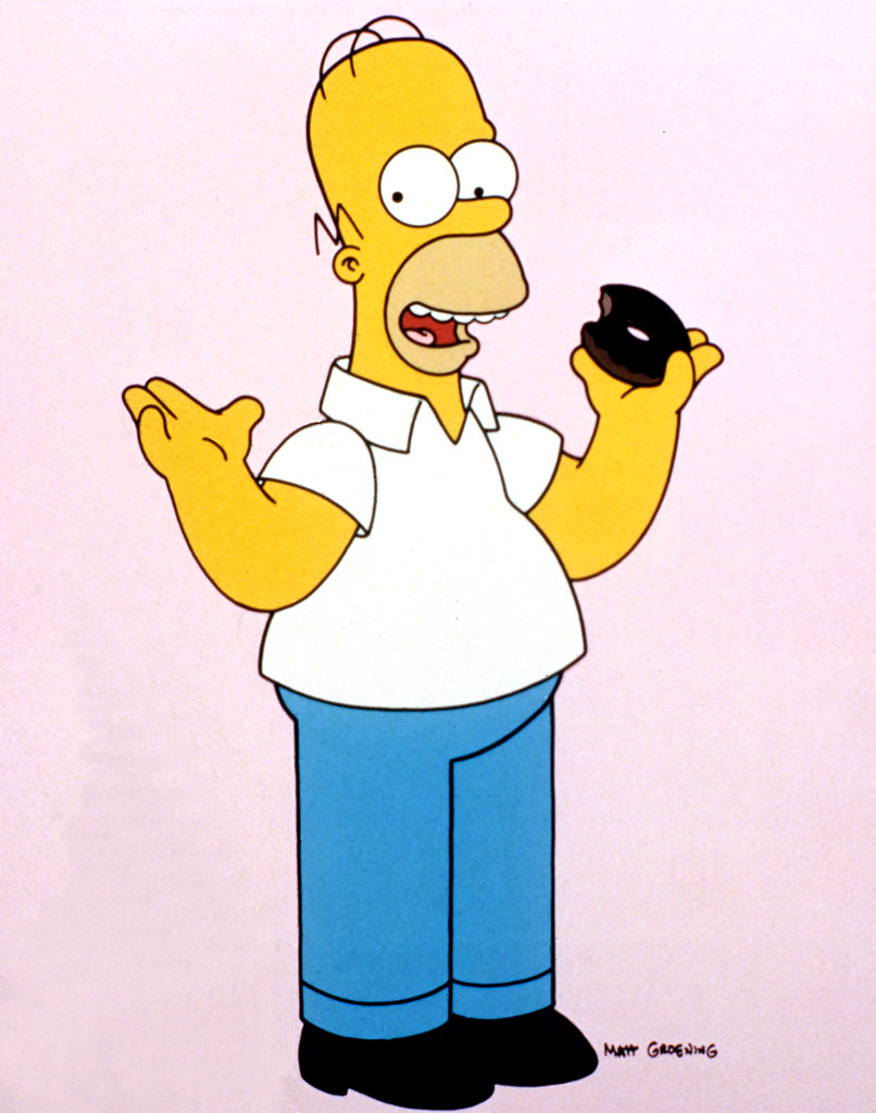 Homerdonut 550x698 top 10 cartoon characters
