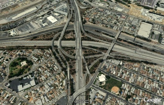Los Angles Interchange 550x353 Top Ten Freakiest Highways
