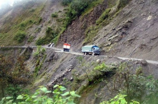 North Yungas Road 5 550x364 Top Ten Freakiest Highways