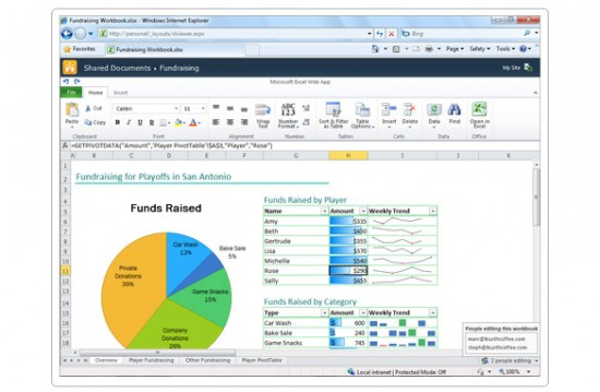 screen Excel WebApp large 550x359 Microsoft announced Office 365 public beta