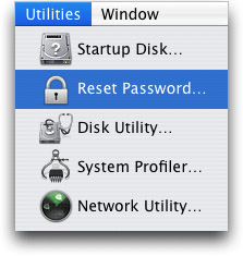Reset Password on your Mac OS X Computer