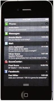 notification iOS Notifications in a modified new style