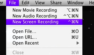 record a screencast on mac os x using quicktime x Using QuickTime X to Record ScreenCast on Mac OS X
