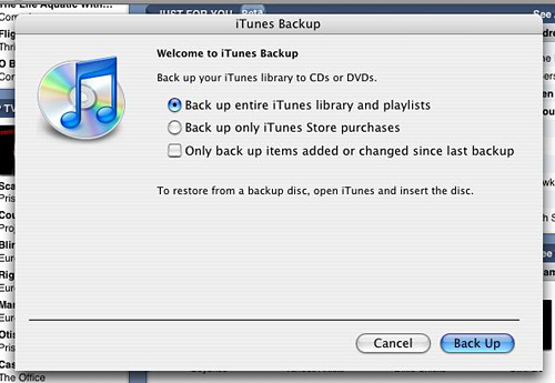 Burn Your New iTunes Movies to DVD and Protect Your Other iTunes Purchases How to backup your iTunes library and playlist