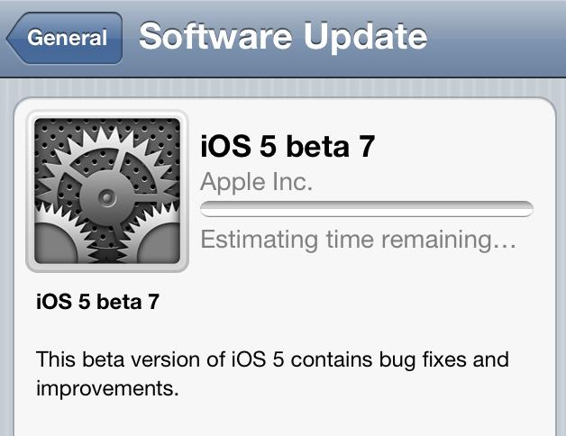 Apple launched iOS 5 beta 7 and iTunes 10.5 Beta 7 for both Windows and Mac