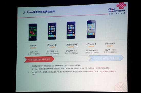 iPhone5 china unicom hspa 550x365 Rumor: iPhone 5 Supports HSPA+ 4G Technology