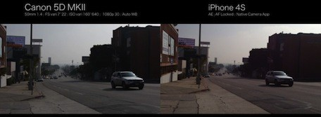 iPhone 4S Picture In Comparison With Canon 5D MK II
