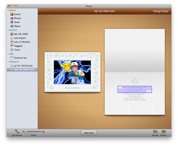 How To Make a Last Minute Christmas Present with iPhoto How to create card by using with iPhoto card feature