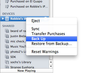 How To Backup Your iPhone, iPod or iPad