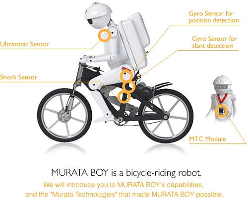 MURATA BOY bicycle riding robot 1 Bicycle Robots!