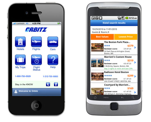 Orbitz mobile application Apple's Users Spend 19% More On Shopping Online Than Androids