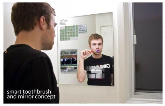smart toothbrush and mirror concept fekko 550x355 Brushing Teeth And Diagnosing Problem Made Easy!
