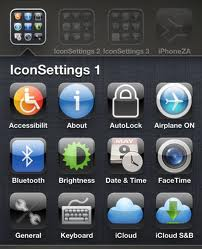 Quick access to iPhone and iPad settings