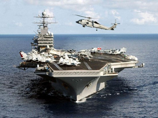 USS Abraham Lincoln Aircraft Carrier 550x412 Top 10 Biggest Aircraft Carriers