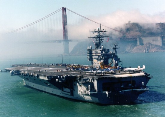 USS Carl Vinson 550x392 Top 10 Biggest Aircraft Carriers