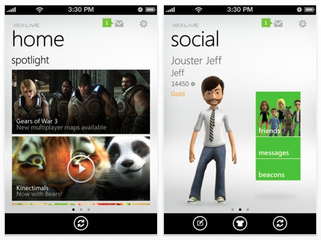 Android and iOS Powered with Xbox Live