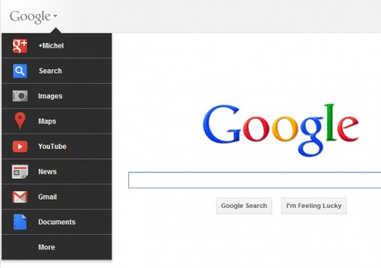 new google bar 550x387 All New Google Bar (How To Get It? Follow These Steps)