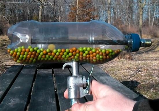 Как сделать воздушку видео из бутылки