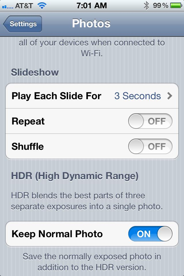 Disabling iPhone HDR from Saving Two Photos