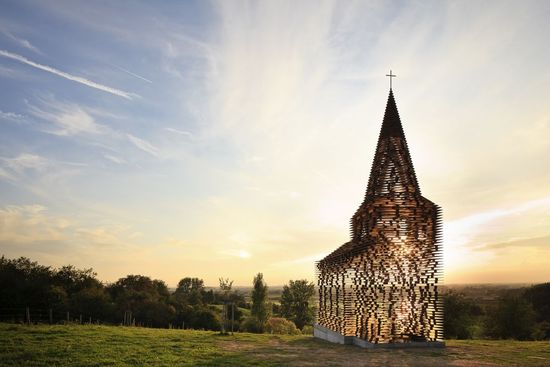 belgium transparent church 10 Unusual Churches of World