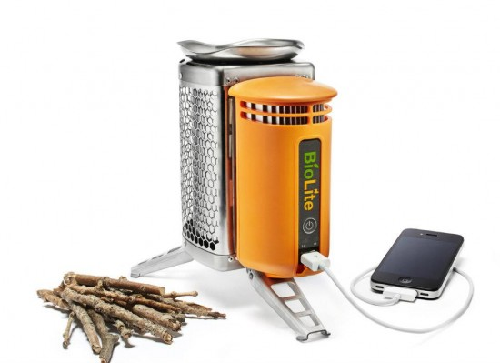 biolite camp stove 550x399 Camp Stove Charges Your Phone As Well