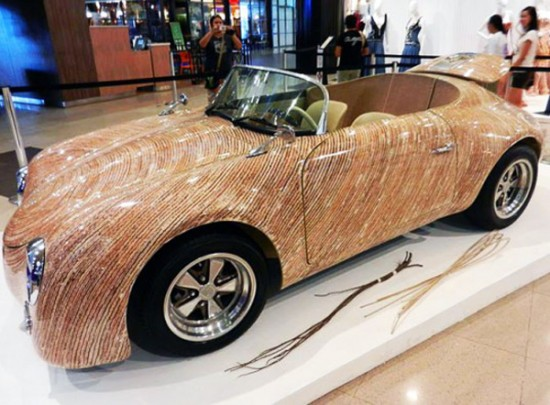 clayton tugonons una cebu car is crafted with coconut stalks lead 537x396 550x405 A Car Made From Coconut
