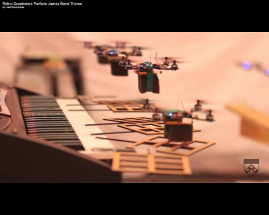 robots at keyboard 550x440 James Bond Theme Cover By Flying Robots