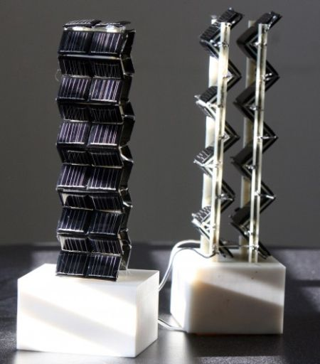 u8 solar towers 3D1 3D Solar Panels More Efficient Than Predecessors