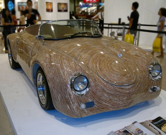 una sports car 550x446 A Car Made From Coconut