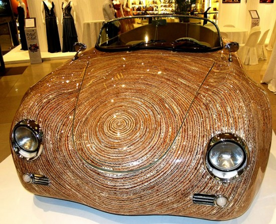 una sports car made from coconut stalks 550x446 A Car Made From Coconut