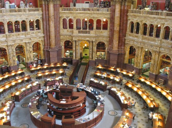 Library of Congress 550x412 Top 10 Largest Libraries