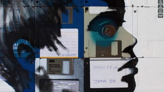 Nick Gentry Floppy Disk Art 2 1 550x307 Amazing Floppy Disk Art