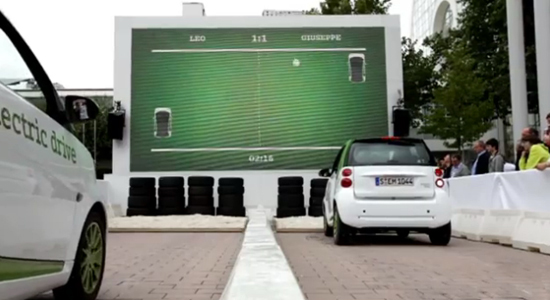 The Giant Pong Played By Cars