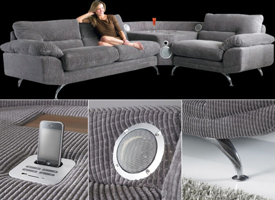 Music Sofa Connects With Your iPod