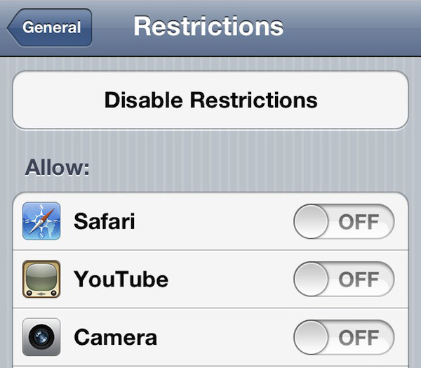 hideyoutube, safari, and other default app icons in ios
