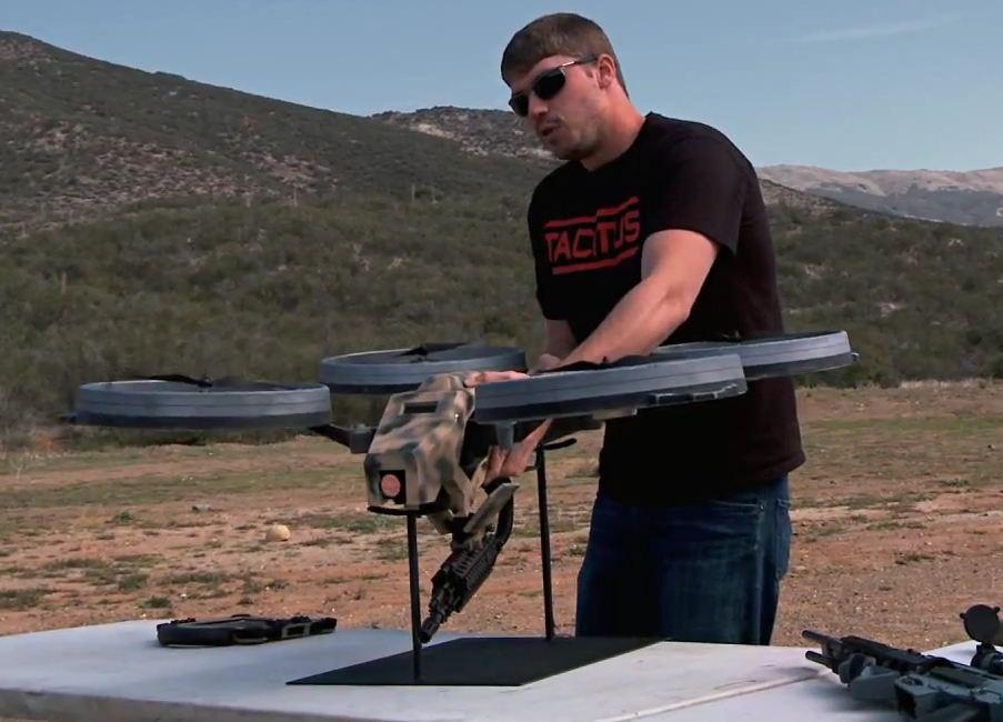 Quadcopter with Gun