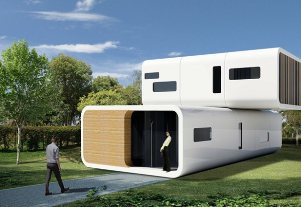 coodo modular residential building4 600x413 Coodo Prefabricated Buildings Can Provide New Portable Homes