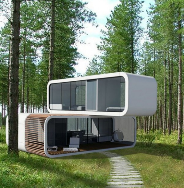 coodo modular residential building5 600x613 Coodo Prefabricated Buildings Can Provide New Portable Homes