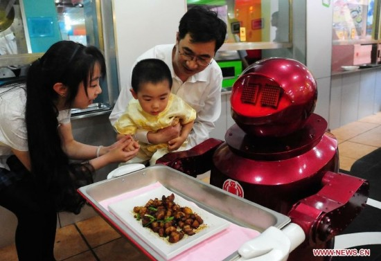 robot restaurant 550x377 Robot Operated Restaurant Now Open In China!