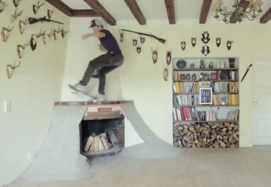 skate Crazy Skater Turn His House Into A Skate Park