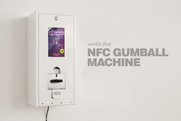 nfc gumball machine 600x402 Now Use Coins To Pay For Your Apps With NFC Technology!