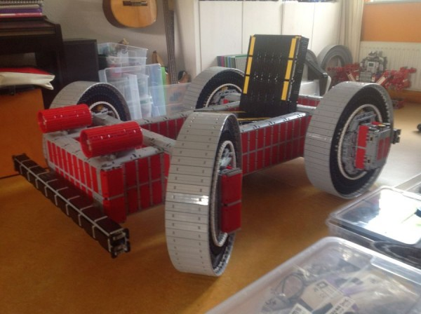 legokart2 600x448 A Working Cart Made Entirely From Lego