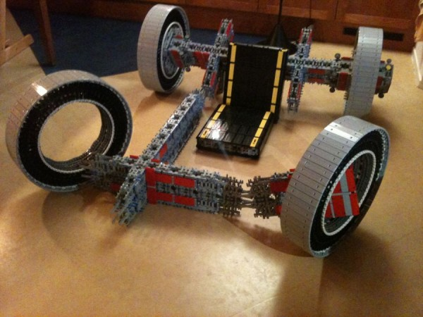 legokart6 600x450 A Working Cart Made Entirely From Lego