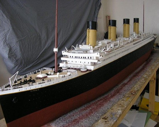 Jason King Titanic 550x440 Man Builds An Amazing Titanic Replica From Scrap