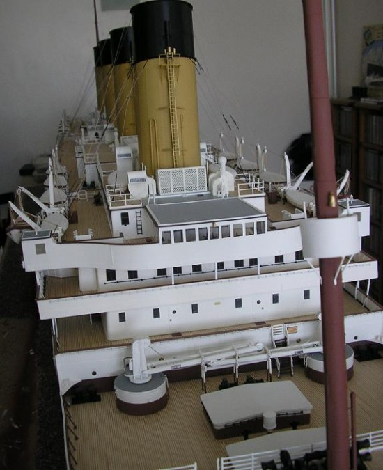 Jason King Titanic2 550x675 Man Builds An Amazing Titanic Replica From Scrap